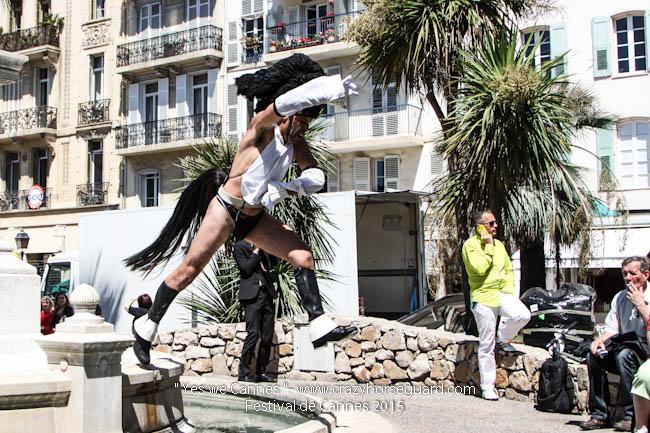 19 - Yes we Cannes - Festival de Cannes 2015 - Crazy Horse Guard - 20052015 (c) Benjamin Dubuis 2015