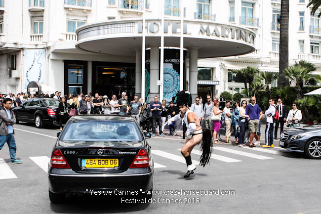 20 - Yes we Cannes - Festival de Cannes 2015 - Crazy Horse Guard - 21052015 (c) Benjamin Dubuis 2015