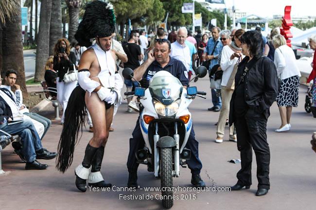 20 - Yes we Cannes - Festival de Cannes 2015 - Crazy Horse Guard - 22052015 (c) Benjamin Dubuis 2015