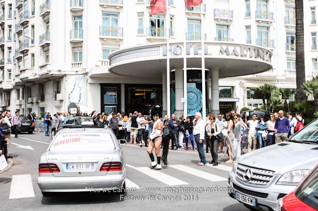 23 - Yes we Cannes - Festival de Cannes 2015 - Crazy Horse Guard - 21052015 (c) Benjamin Dubuis 2015