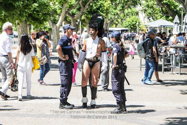 29 - Yes we Cannes - Festival de Cannes 2015 - Crazy Horse Guard - 20052015 (c) Benjamin Dubuis 2015