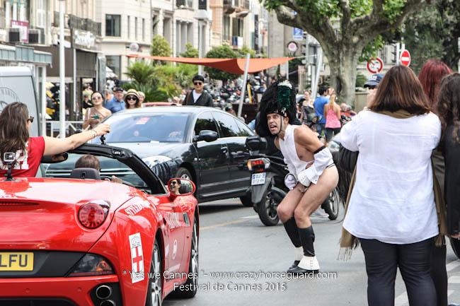 52 - Yes we Cannes - Festival de Cannes 2015 - Crazy Horse Guard - 19052015 (c) Benjamin Dubuis 2015